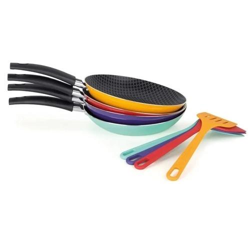 Frigideira com Espátula 20cm- Linha Color Multiflon