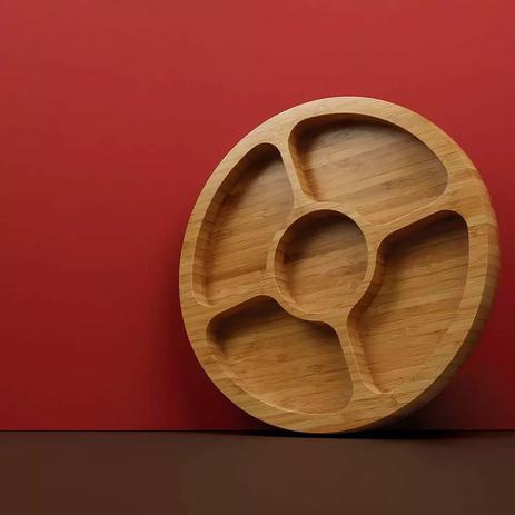Gamela com 5 divisorias bamboo - Mor