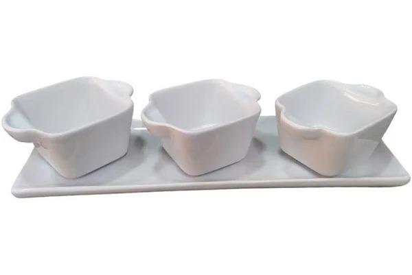 Jogo Petisco 4 Peças Em Cerâmica Porto Seguro