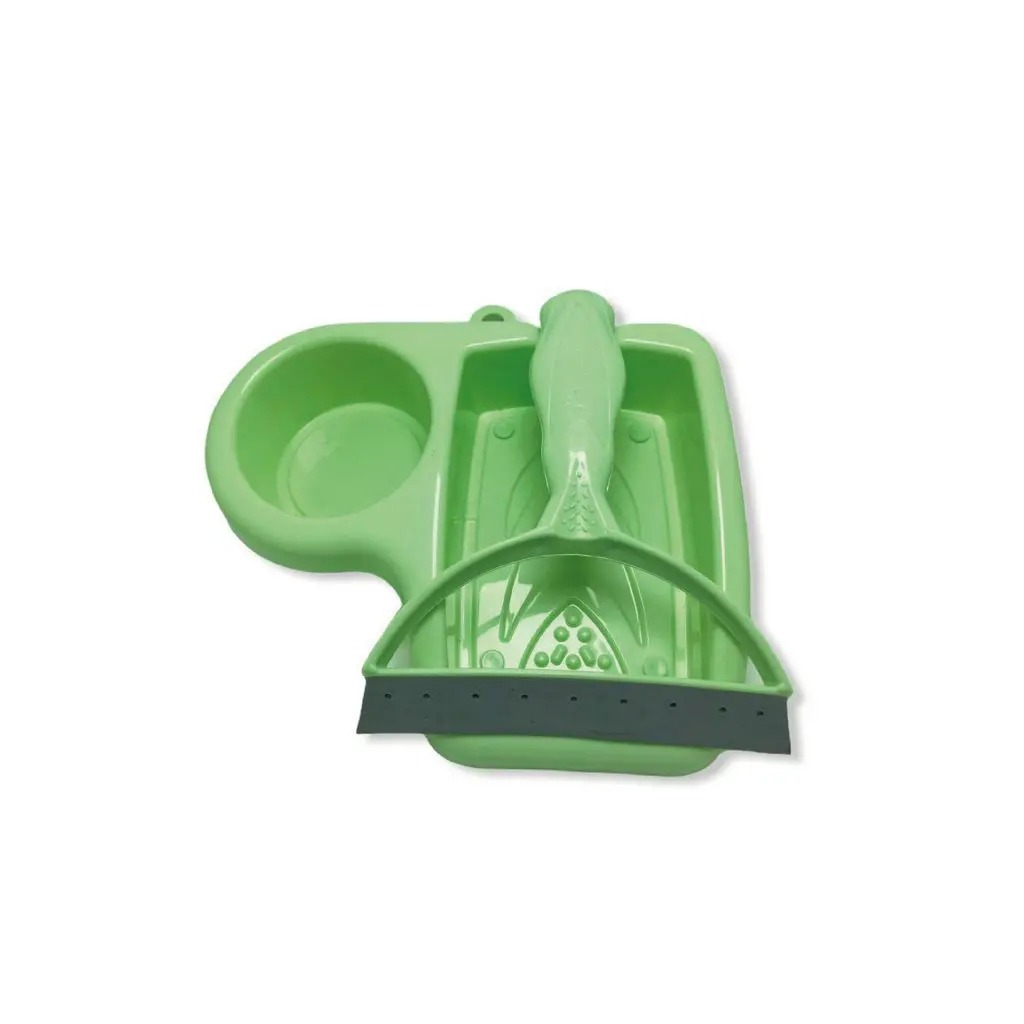 Kit para Pia com Rodinho e Porta Detergente na cor verde - Keita