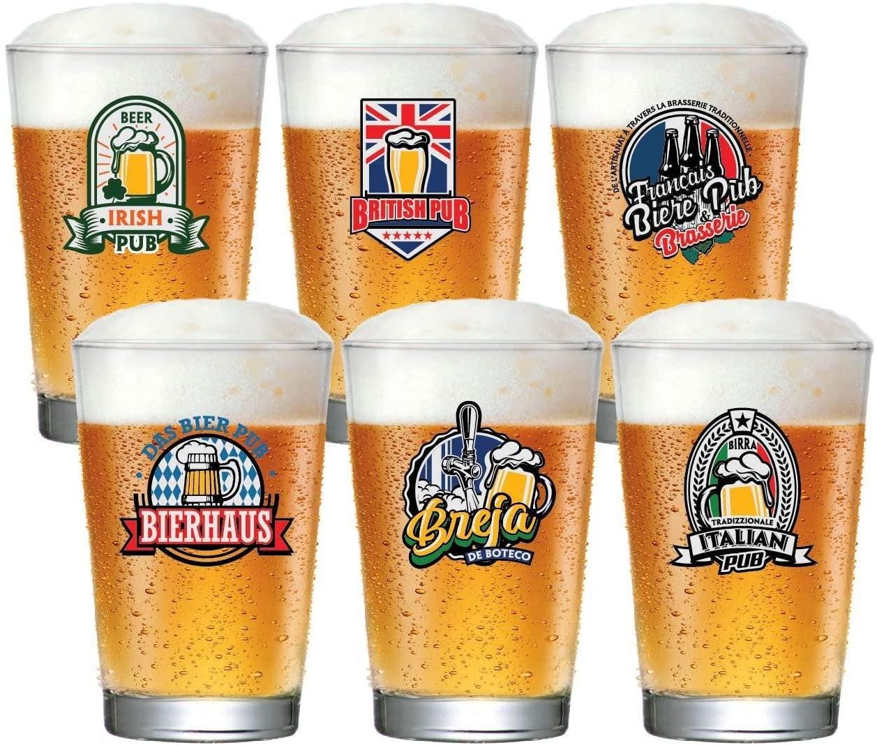 Jogo de Copos para Cerveja Caldereta 350ml 6 Pcs - Ruvolo