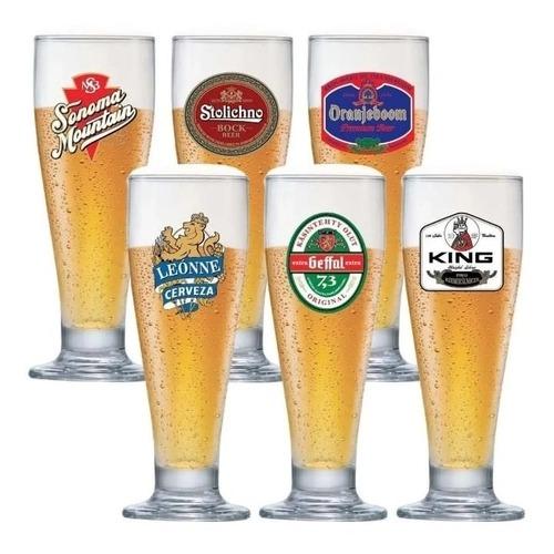 Jogo de Taças de Cerveja Happy Hour Tulipa 300ml 6 Pcs - Ruvolo