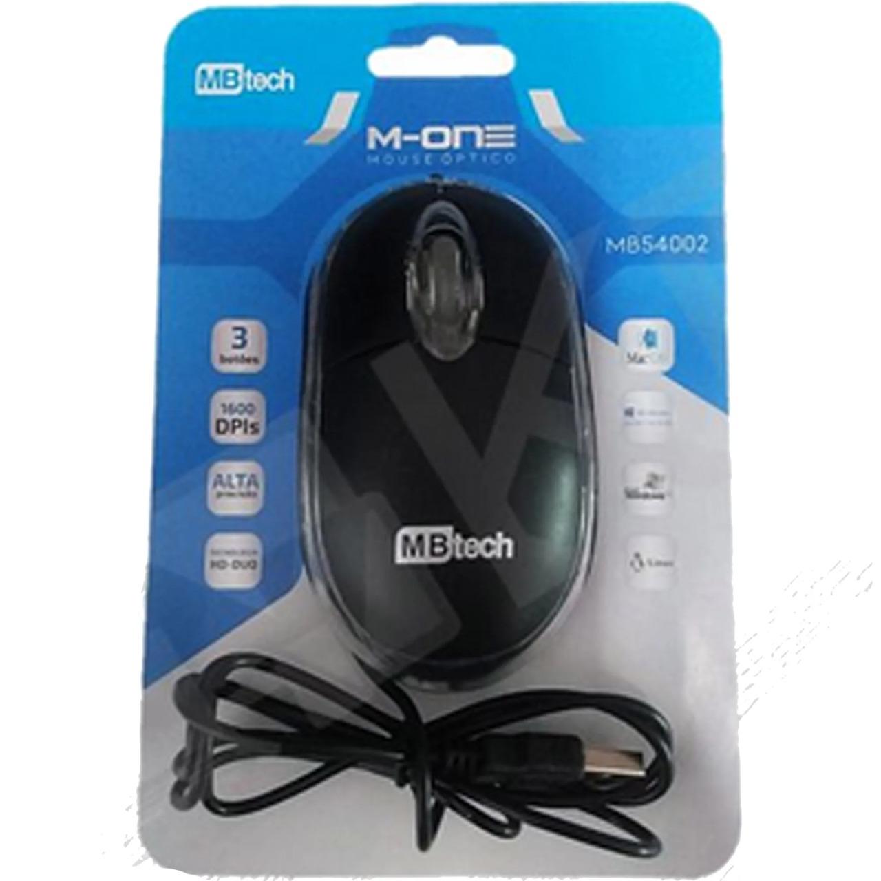 Mouse Ótico C/Fio MBtech