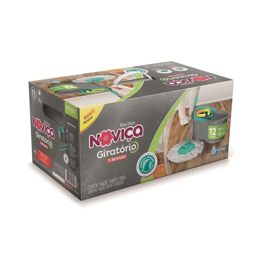 NOVICA MOP GIRATORIO PLASTICO 12L 1X1