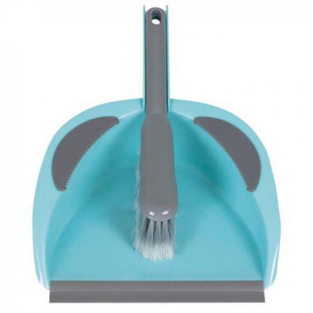 Kit Limpeza com Pazinha de Lixo + Escova Azul Turquesa Mor