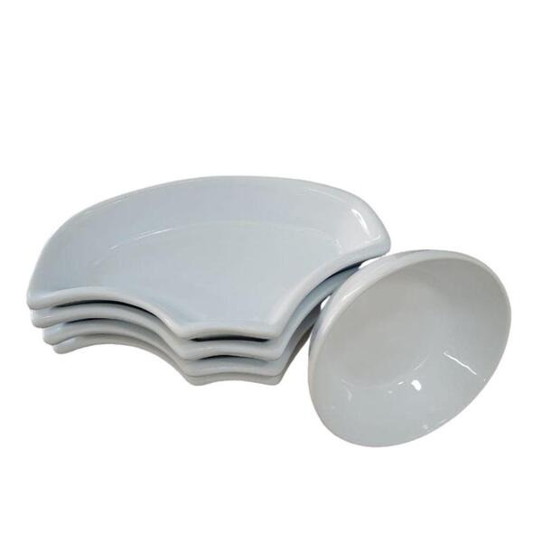 Petisqueira Catavento 5 Peças Cerâmica Porto Seguro Cor: Branco