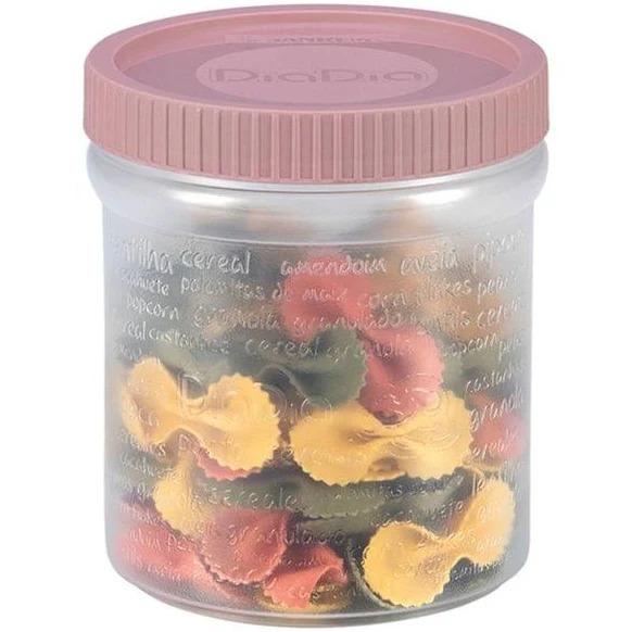 Porta Cereal Plástico Ref698 nas cores verde e rosa -  Sanremo
