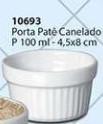 Porta Patê Canelado Tamanho: P Cerâmica Porto Seguro cor: Branco