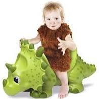 Andador dinossauro 4 rodinhas giant dinos triceratops veiculo roma jensen - Roma Brinquedos