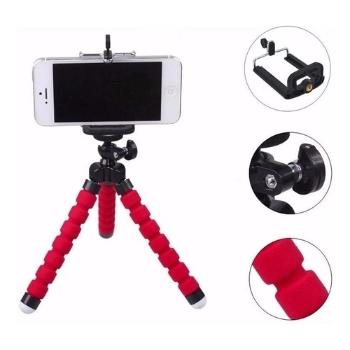 Selfie Flexi Pod- mini tripé na cor vermelha