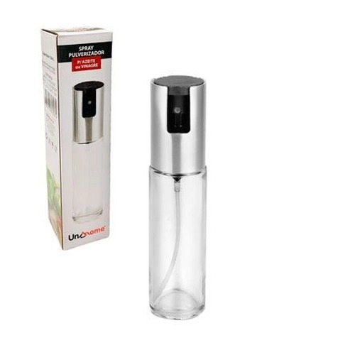 Spray Pulverizador Para Azeite e Vinagre vidro Tampa Aço Inox UniHome