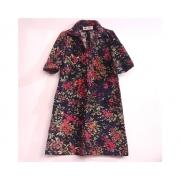 Vestido Vintage Prelude Autêntico Estampado em Veludo Tam 44