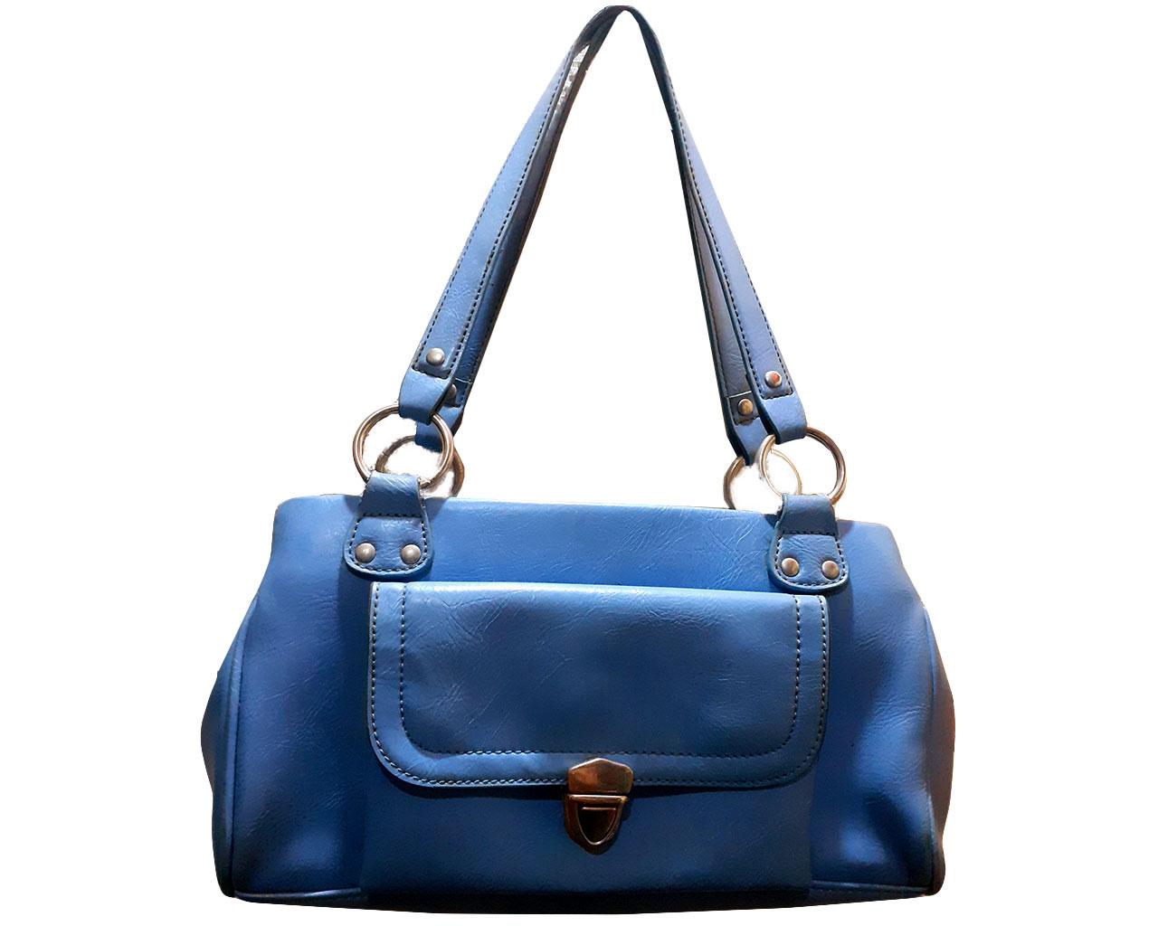 Bolsa Azul Chenson Modelo Baguette