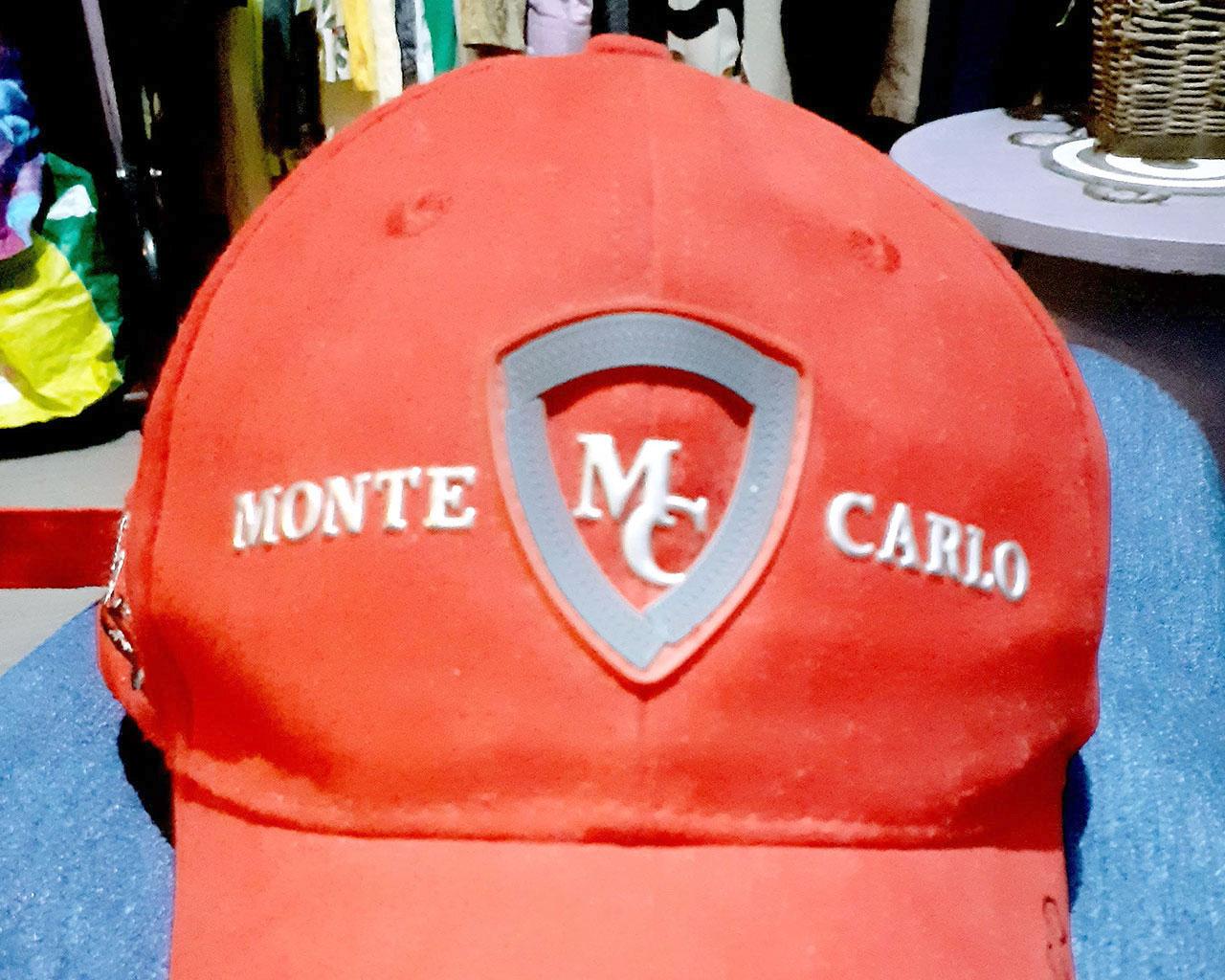 Boné Vermelho Mônaco GP Usado Original em Ótimo Estado