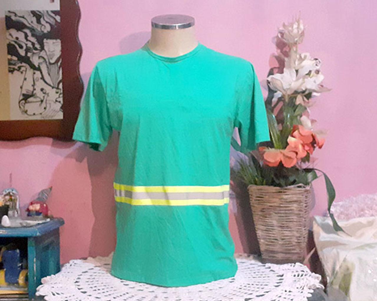 Camiseta Masculina Sinalizadora Com Faixa Refletiva