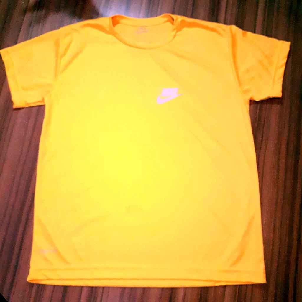 Camiseta Original Dry Fit Amarela Neon Tamanho G