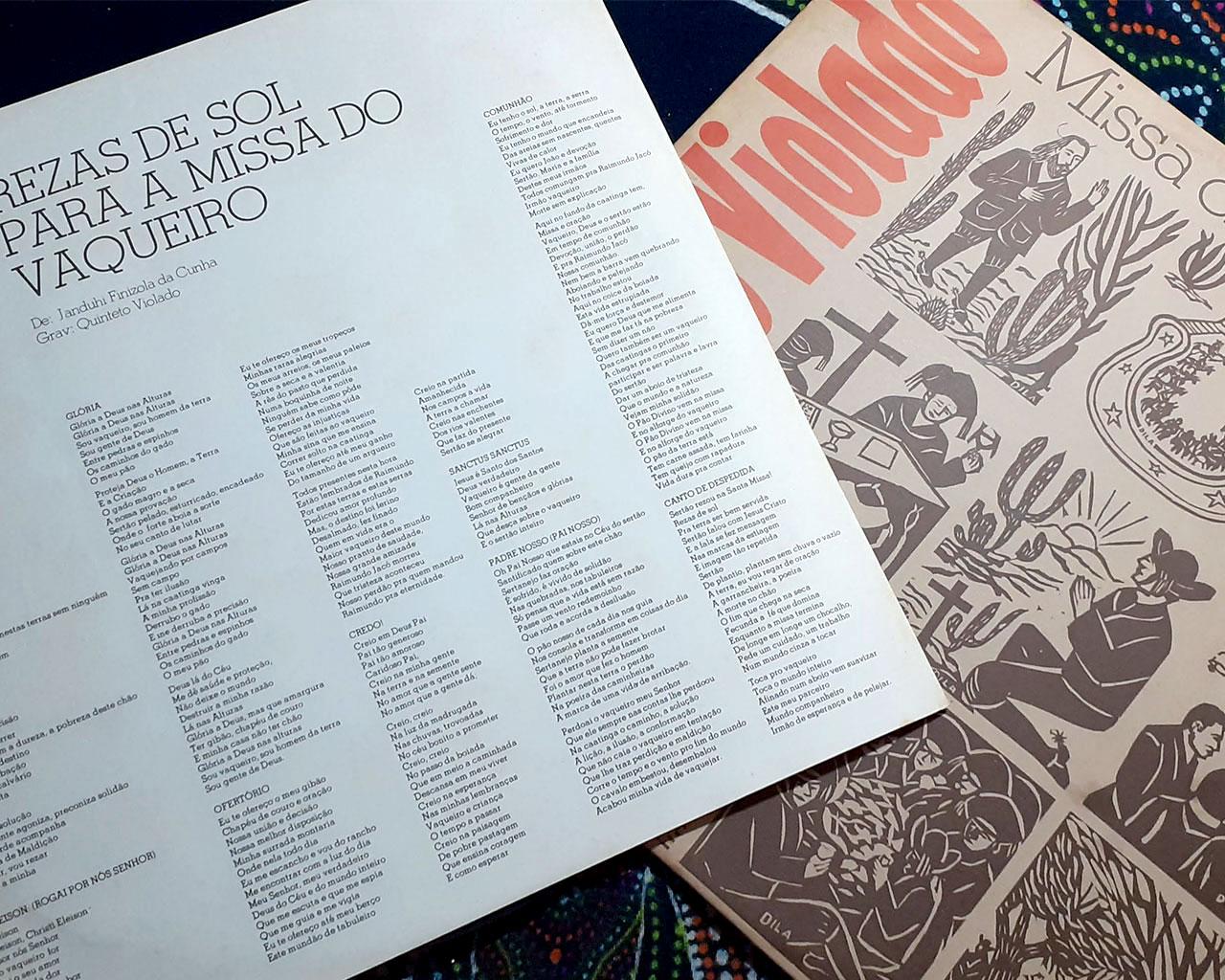 LP Quinteto Violado A Missa do Vaqueiro 1976 ótimo estado
