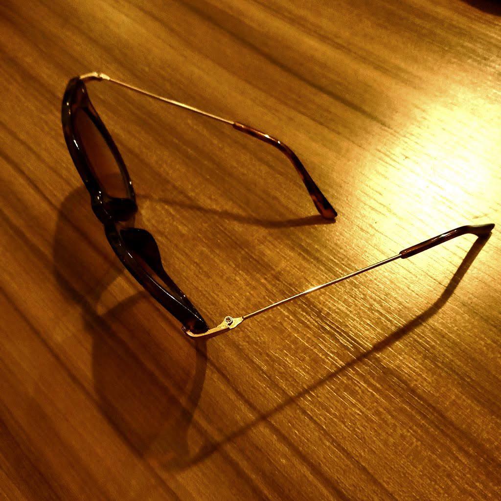 Óculos de Sol Feminino Com Detalhe de Oncinha