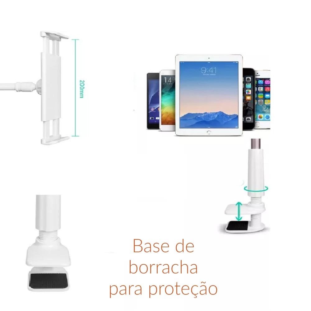 Suporte Longo flexível para celular/tablet Gooseneck 360º Suporte Mania