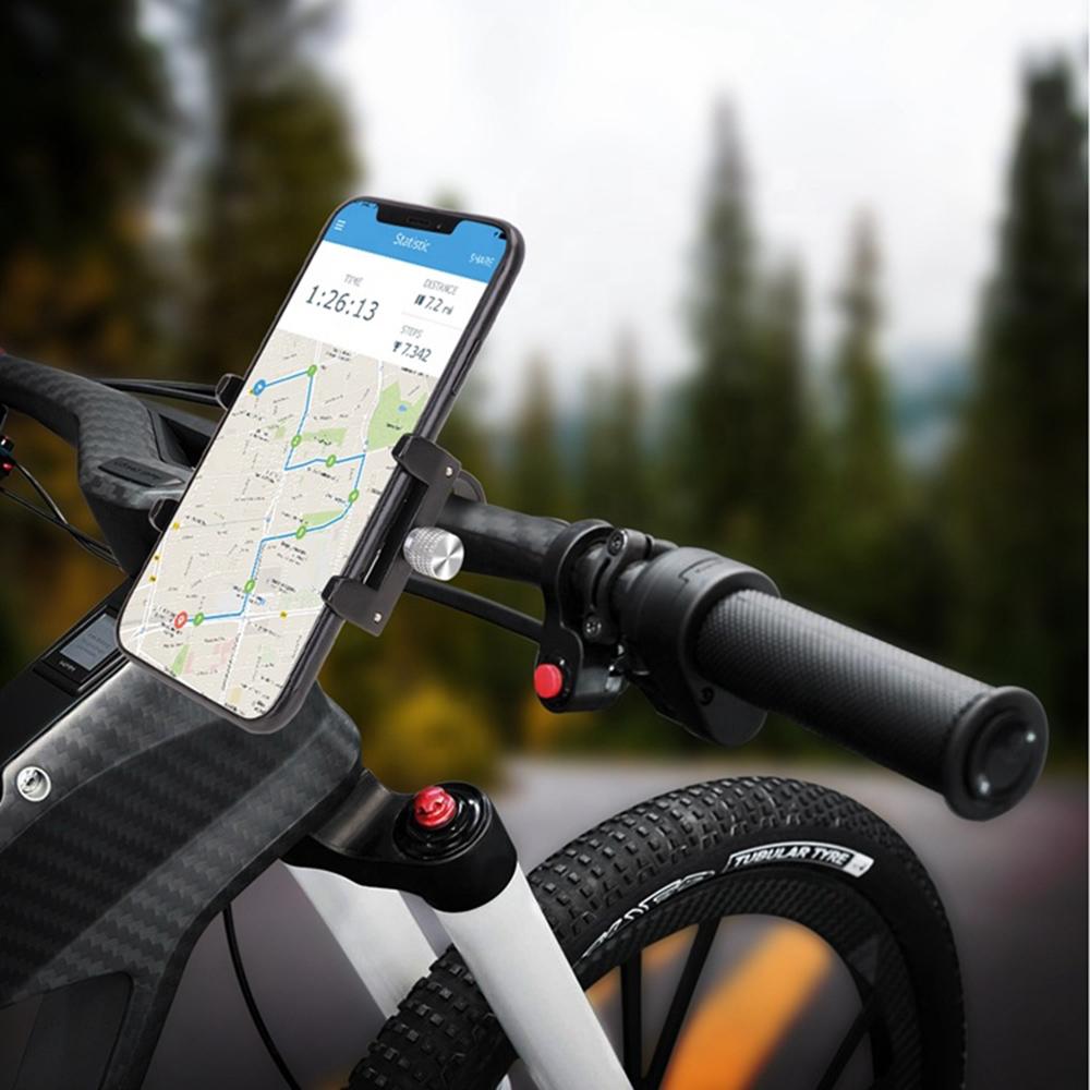 Suporte universal GPS/Celular para Moto/Bike em Alumínio Suporte Mania ajustável