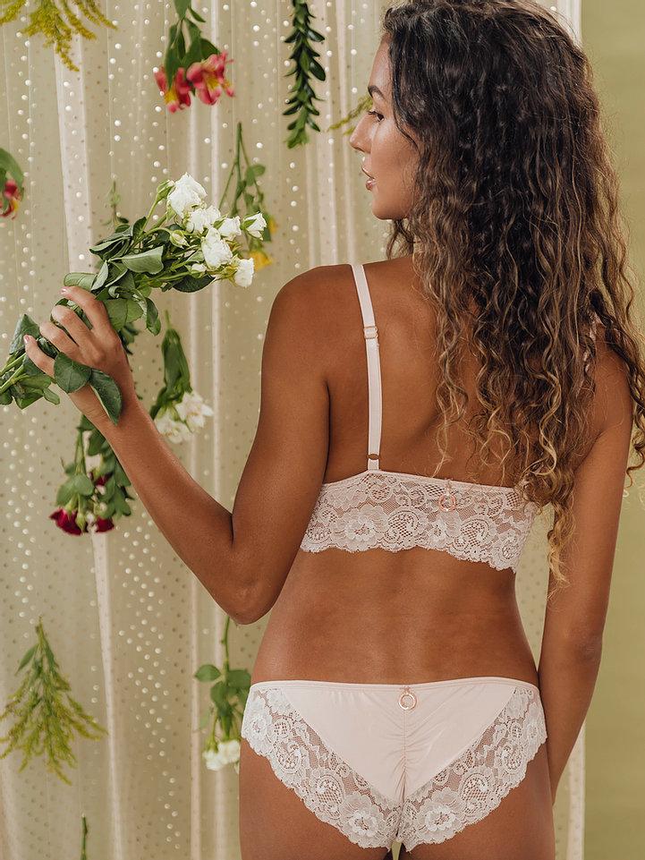 Calcinha Encanto Empina Bumbum Rosé/Nude