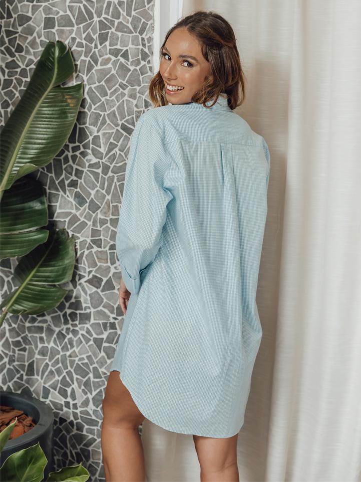 Camisa Erva-doce Azul Xadrez