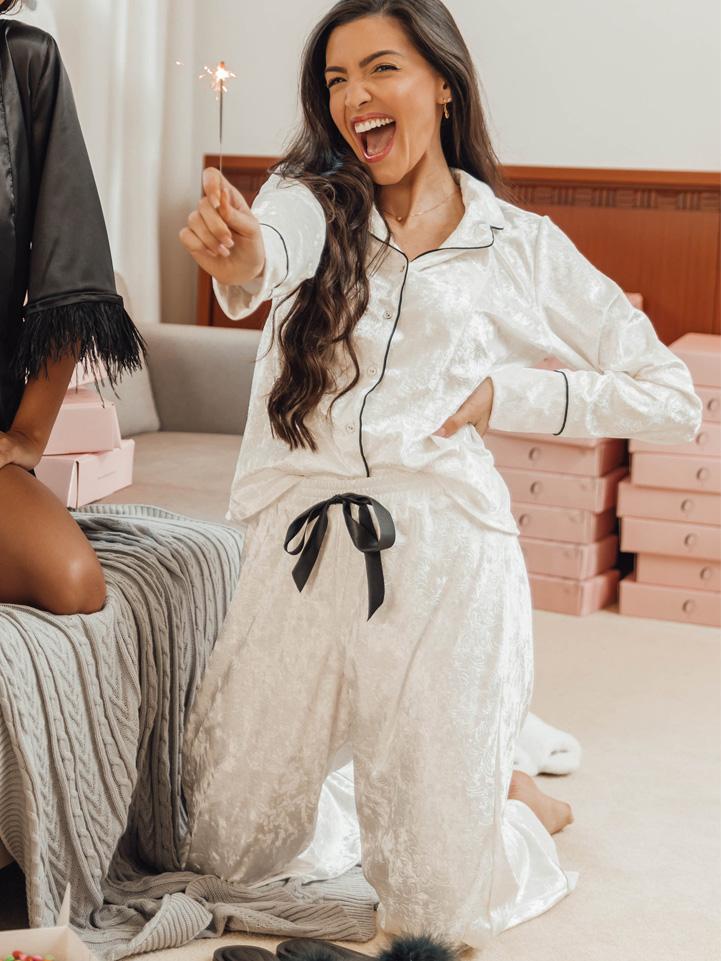 Conjunto Pijama Aconchego Veludo Branco