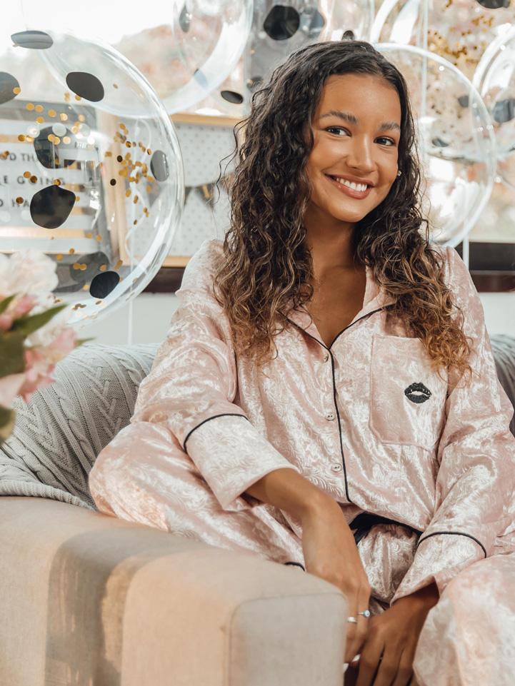 Conjunto Pijama Aconchego Veludo Rosa
