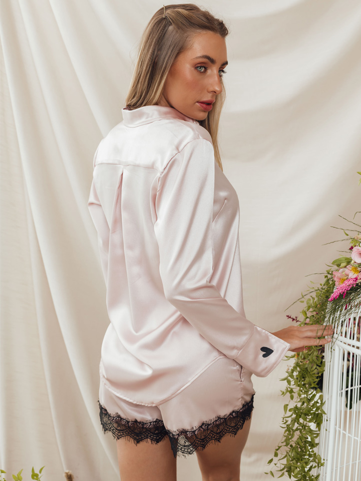 Conjunto Pijama Flor-da-Paixão Rosé