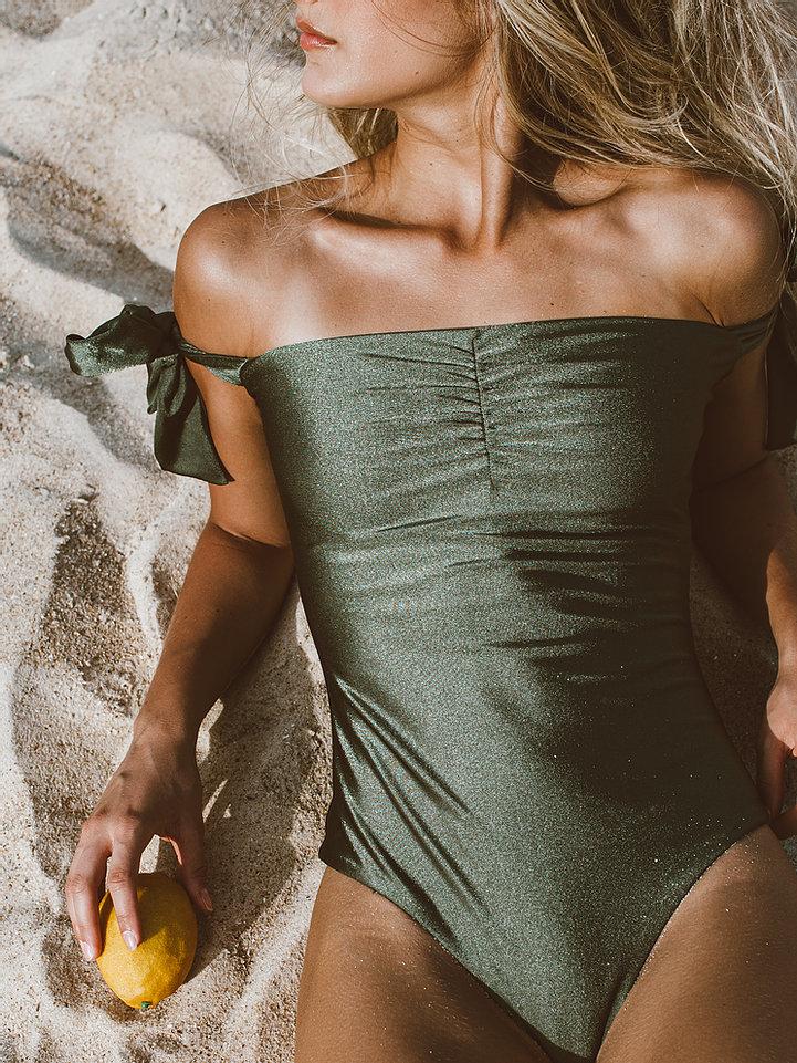 Maiô/Body Nice Verde Fio Dental