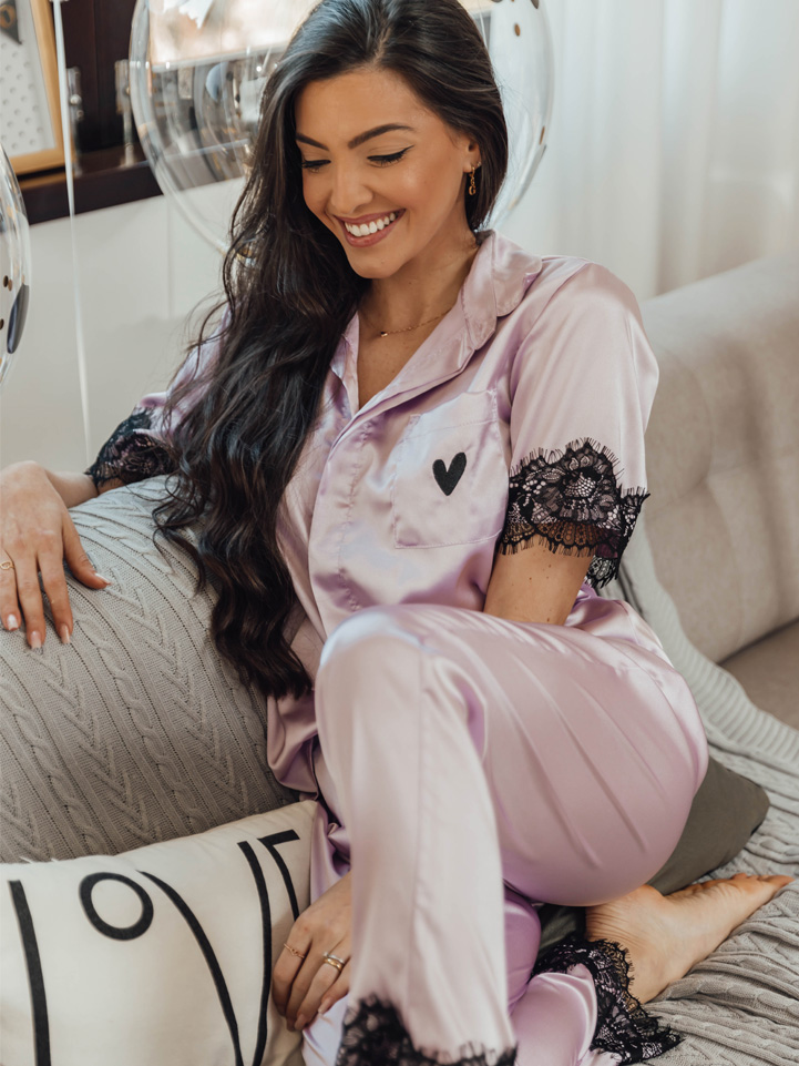 Pijama Alfa Longo Lilás