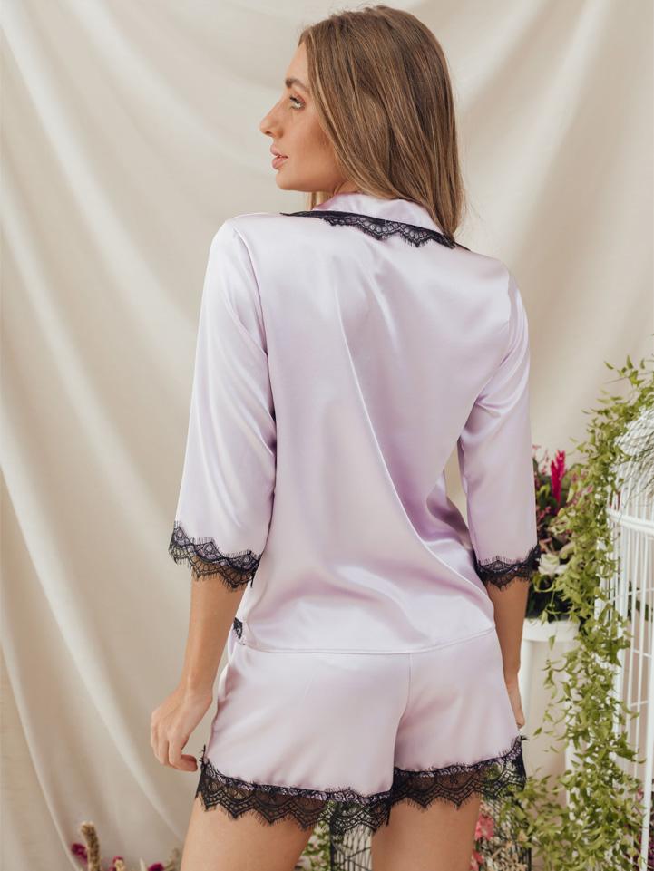Pijama Alfa Shorts Lilás