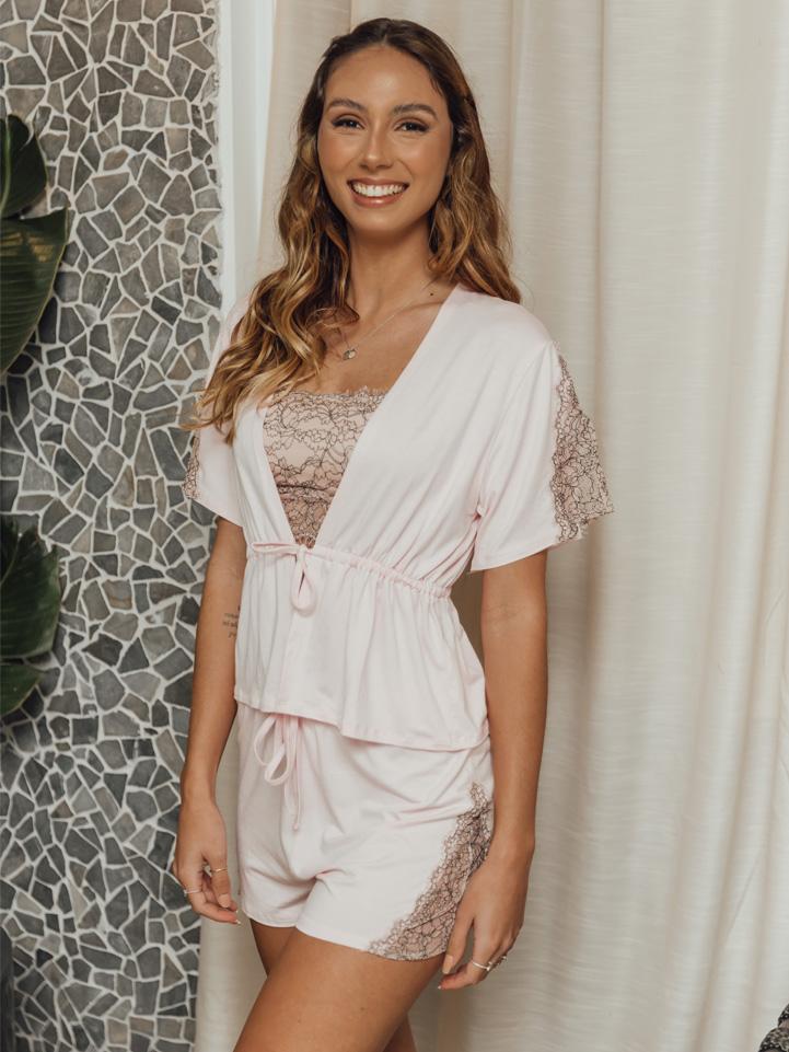Pijama Canela Rosa