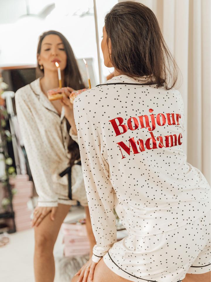 Pijama Bonjour Madame Poá