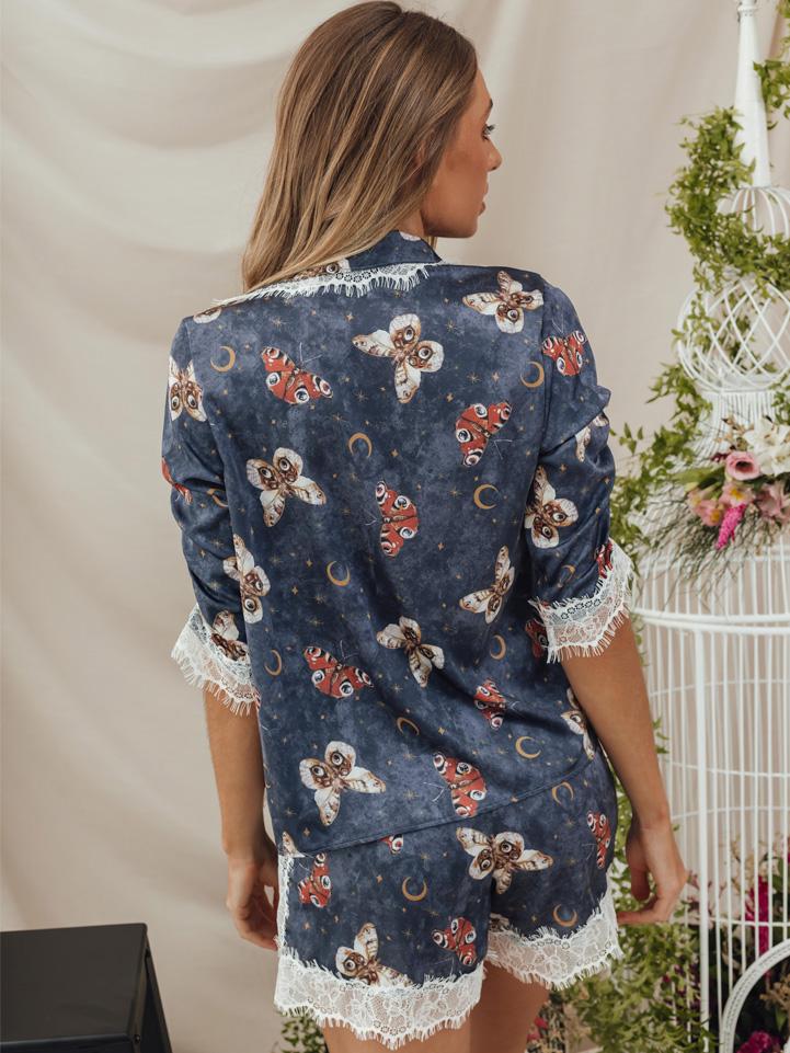 Pijama Borboletas Marinho