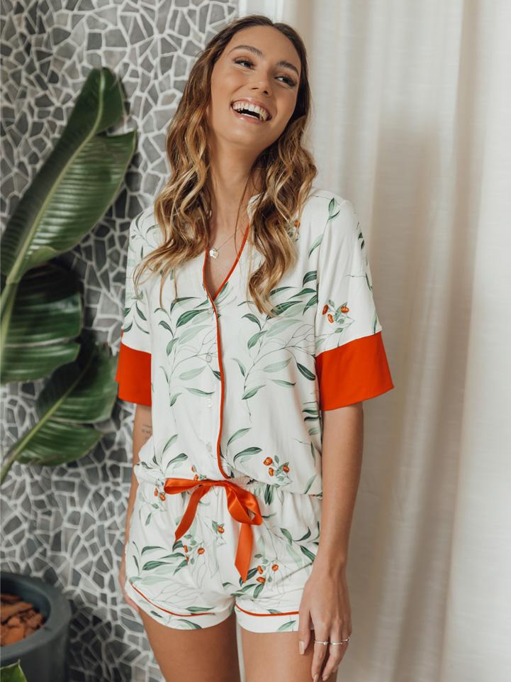 Pijama Tropical Laranja