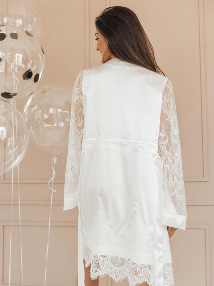 Robe Glamour Off White