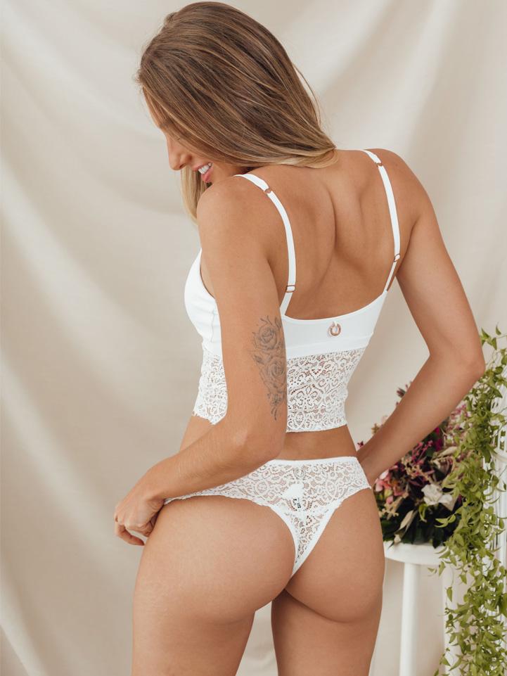 Top Violeta Branco
