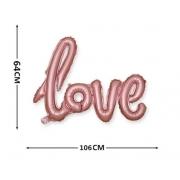 Balão metalizado LOVE rosé -1 Metro