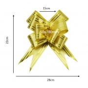 Laço fácil filete dourado (pacote com 10 un.) 50x780mm