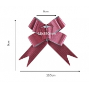 Laço fácil glitter listrado (pacote com 10 un.) 18x350mm 1013