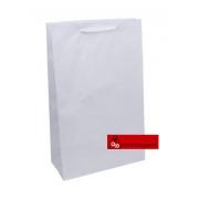 Sacola kraft branca com cordão (pacote com 10 unidades)