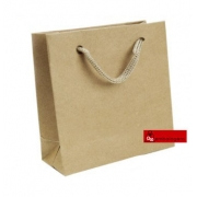 Sacola Kraft com cordão (pacote com 10 unidades)