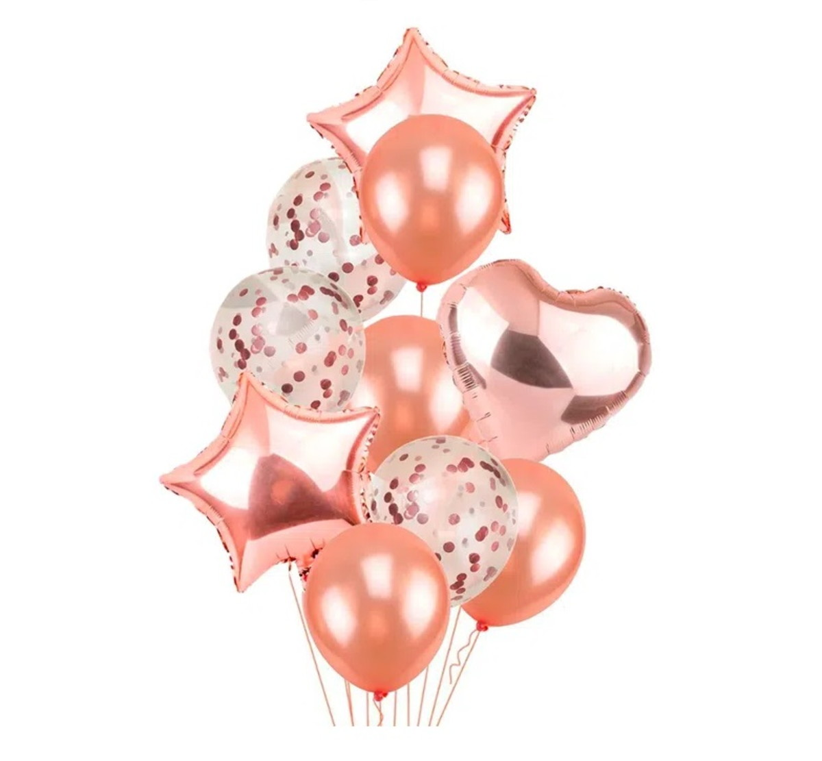 Kit- bouquet de balões cor rosé - 80cm