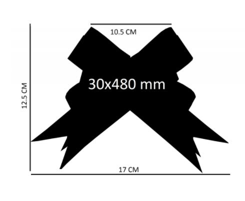 Laço fácil filete dourado (pacote com 100 un.- cor única) 30x480mm