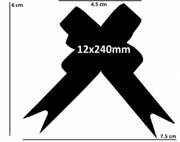 Laço fácil glitter listrado (pacote com 10 un.) 12x240mm 1012