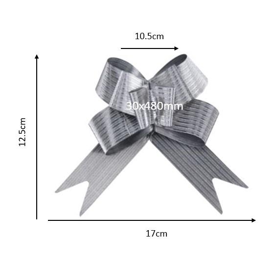 Laço fácil glitter-listrado (pacote com 10 un.) 30x480mm 1014