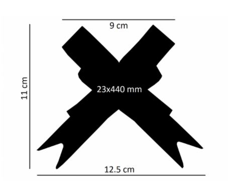 Laço fácil plástico + glitter (pacote com 10 un.) 23x440mm 6006-23