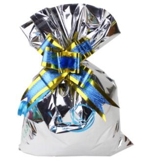 Saco para presente metalizado (pacote com 50un.) 60x90cm