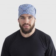 Bandana Nebraska Azul Estampado
